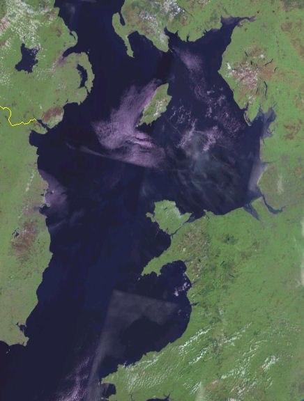 Irish Sea satellite image