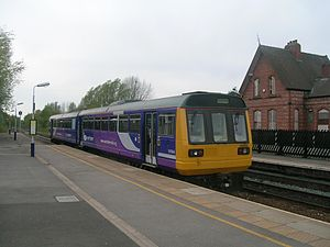 Irlam railway station - Irlam railway station in 2008