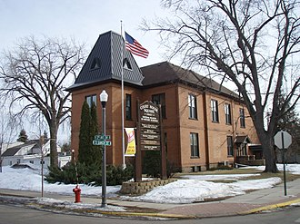 Cambridge, Minnesota - The original Isanti County Courthouse in Cambridge MN