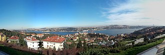 Beşiktaş - A panoramic view of the Bosphorus strait and Asia from Ulus
