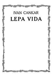 Ivan Cankar: Lepa Vida