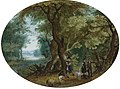 Izaak van Oosten - Hunters with Their Dogs in a Wooded Landscape.jpg