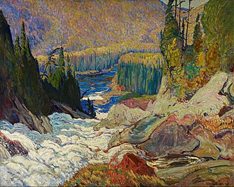 J. E. H. MacDonald - Image: J.E.H. Mac Donald Falls, Montreal River Google Art Project