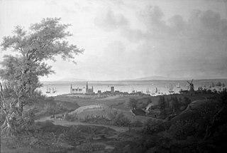 Udsigt over Kronborg, Helsingør og Sundet