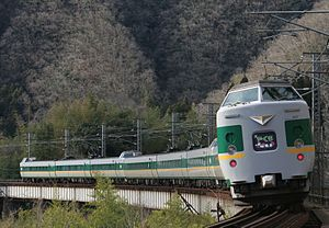West Japan Railway Company - Image: JRW 381 yakumo color