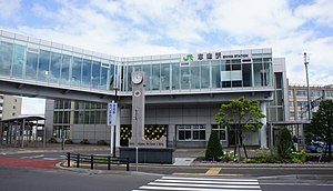 JR Chitose-Line Eniwa Station West Exit.jpg
