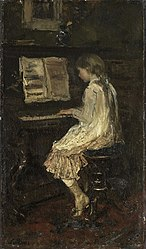 Jacob Maris: Girl at the Piano