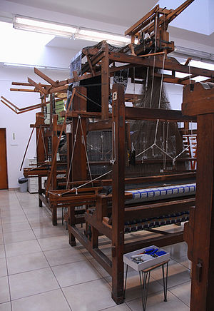 Jacquard loom - Jacquard looms in the Textile Department of the Strzemiński Academy of Fine Arts in Łódź, Poland.