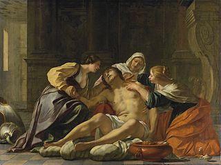 Saint Sébastien soigné par Irène et ses servantes
