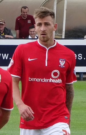 Jake Hyde - Hyde playing for York City in 2014