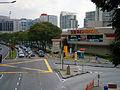 Jalan Kemajuan Subang facing NW, three-way intersection in front of Subang Parade, Subang Jaya, Malaysia (28 May 2014) (01).jpg