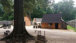 Jamestown Settlement fort interior.jpg