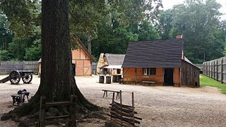 Living history museum in Jamestown, Virginia