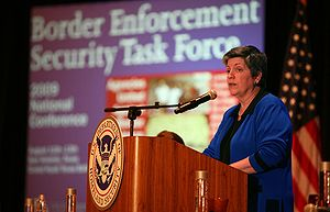Janet Napolitano - Napolitano announcing a border security task force.