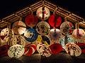 Japanese umbrellas displayed at night, festival of Yamaga, Kumamoto (2015-02-14 by Kohji Asakawa @Pixabay 636870).jpg