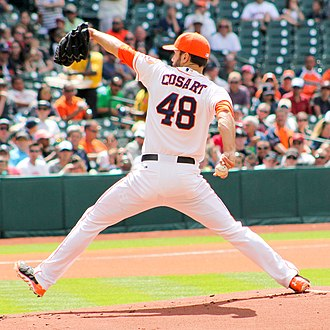 Jarred Cosart - Cosart pitching for the Houston Astros in 2014
