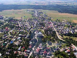 Jastrzębia Góra Village in Pomeranian, Poland
