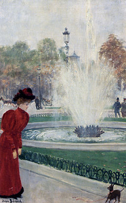 Jean Béraud Parisienne Au Rond-Point Des Champs-Elysees