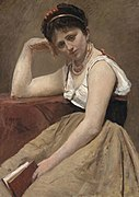 Jean Baptiste Camille Corot - Interrupted Reading - 1922.410 - Art Institute of Chicago.jpg