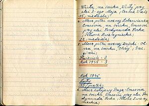Janina Turek - One of the 745 Janina Turek's notebooks