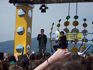 Total Request Live (Italy) - Jesse McCartney performs on TRL Stage.
