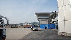 Jetways being installed at the new Sunan International Airport in Pyongyang.jpg