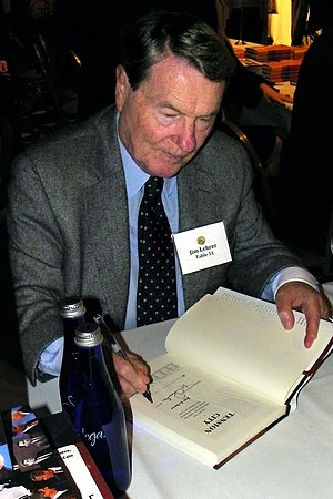 Jim Lehrer - Lehrer signing copies of his book at the National Press Club Book Fair in 2011