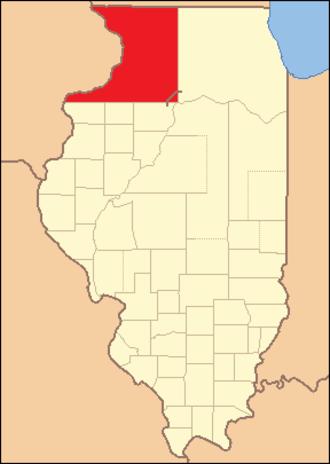 Jo Daviess County, Illinois - Image: Jo Daviess County Illinois 1827