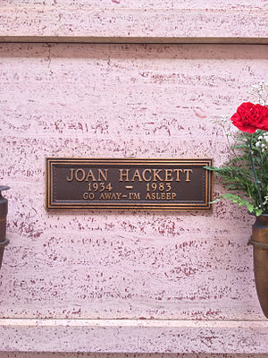 Joan Hackett - Crypt of Joan Hackett at Hollywood Forever