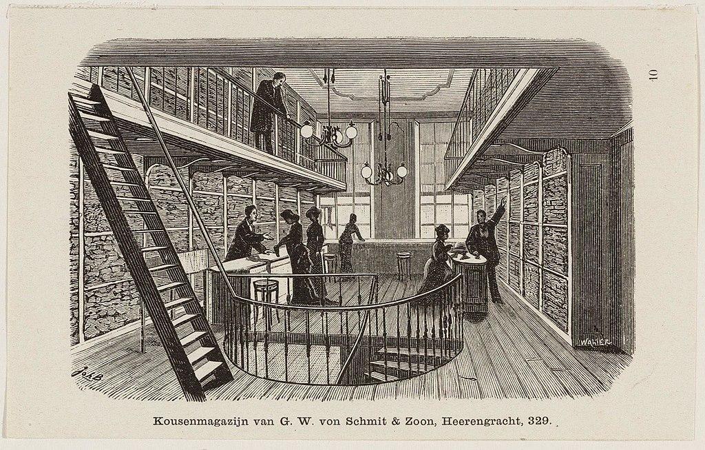 Gravure de Johan Braakensiek au Archives municipales d'Amsterdam.