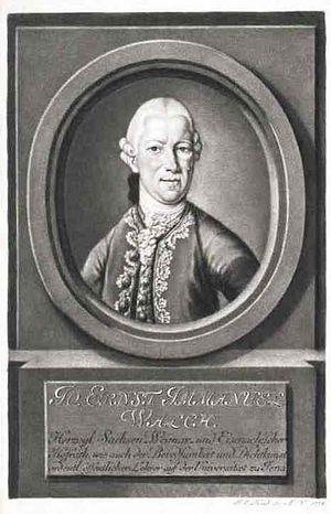 Johann Ernst Immanuel Walch - Johann Ernst Immanuel Walch