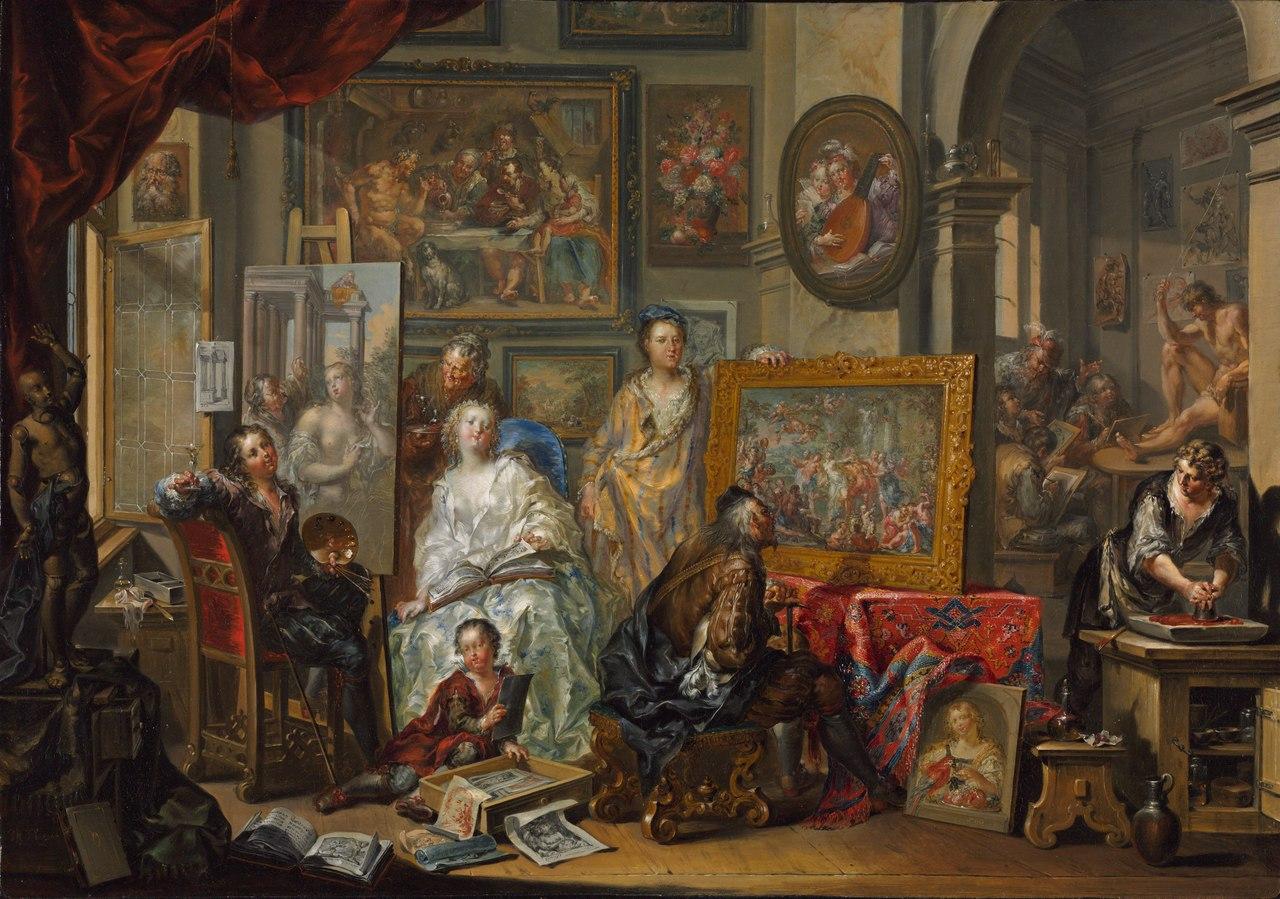 Иоганн Георг Платцер - Студия художника - 2012.41 - Художественный музей Кливленда.tiff