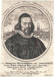 Johann Heinrich Hottinger Swiss theologian