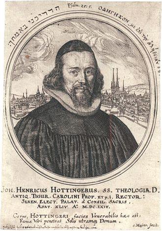 Hottinguer family - Hans-Heinrich Hottinger (1620–1667), Dean of the University of Heidelberg