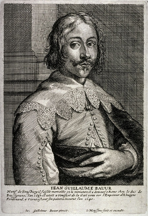 Johann Wilhelm Baur - Engraving by Jan Meyssens from a self-portrait.