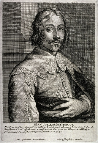 Johann Wilhelm Baur - Engraving by Jan Meyssens from a self-portrait.
