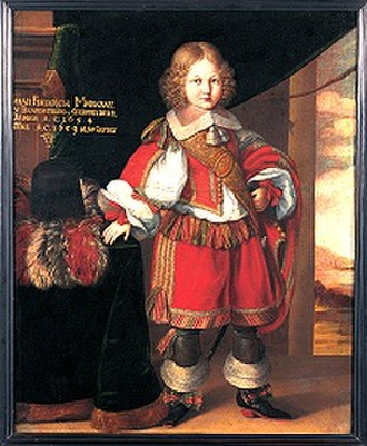 John Frederick, Margrave of Brandenburg-Ansbach - John Frederick in 1659, at five, by Benjamin Block