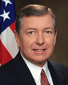 Portrait officiel de John D. Ashcroft, 2001