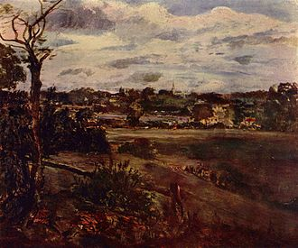 Highgate - View of Highgate, John Constable, 1st quarter of 19th century.