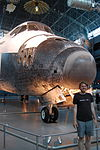 John Cummings at Air and Space Museum, Shuttle Discovery.jpg