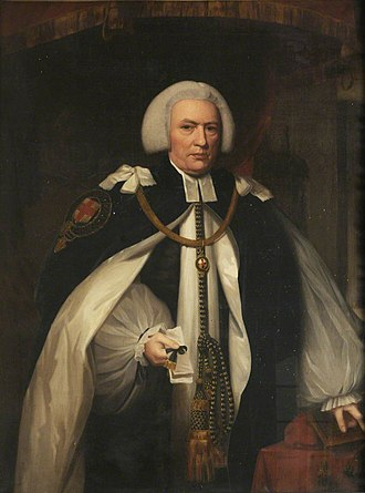 John Douglas (bishop of Salisbury) - Bishop Douglas, wearing the mantle of a Canon of Windsor