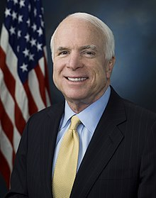 John McCain's official Senate portrait, taken in 2009