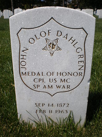 Golden Gate National Cemetery - Headstone of John Dahlgren