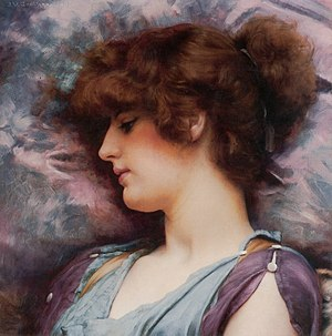 "John William Godward - ""Far Away Thoughts"", 1892"