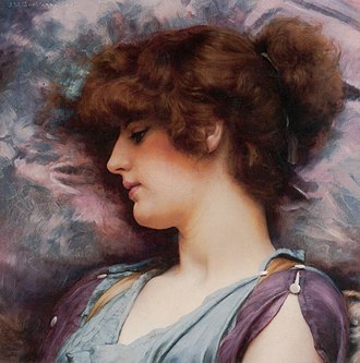 "John William Godward - ""Far Away Thoughts"", 1892"