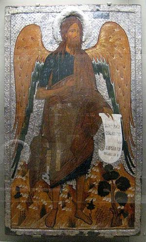 Icon of John the Baptist, tretiakov gallery