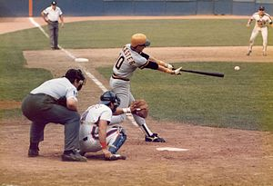 Johnnie LeMaster - LeMaster playing for the Pittsburgh Pirates in a game against the New York Mets at Shea Stadium on September 21, 1985