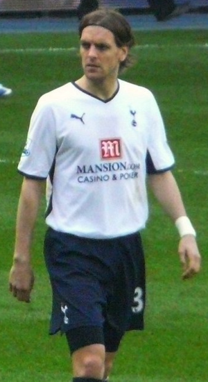 Jonathan Woodgate - Woodgate playing for Tottenham Hotspur in 2009