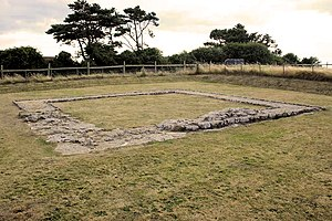 Jordan Hill, Dorset - View of the Jordan Hill Roman Temple site.