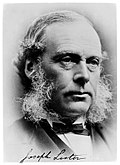 Joseph Lister, 1st Baron Lister (1827 – 1912) surgeon Wellcome M0002551.jpg